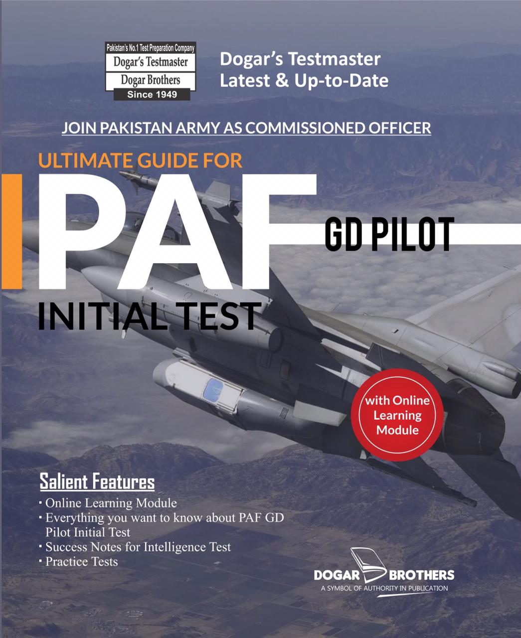 Latest PAF GD Pilot Initial Test Guide 2019