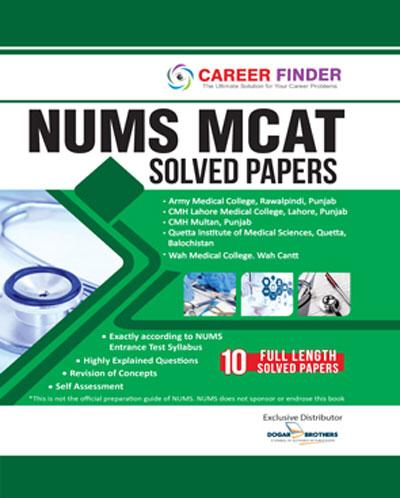 NUMS MCAT Solved Papers (Career Finder)