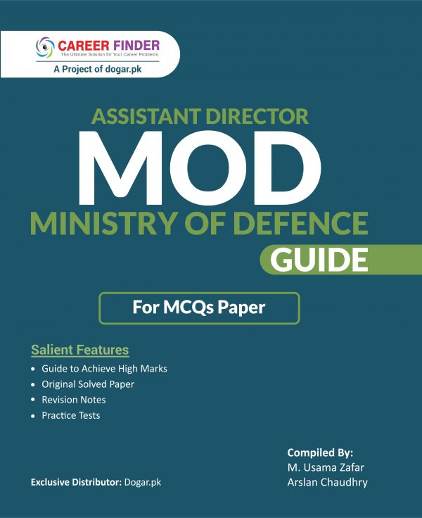 Assistant Director MOD (Ministry Of Defence) MCQs Guide By