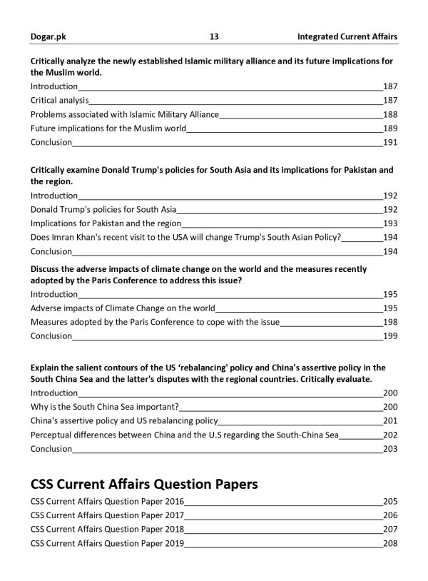 The High Scoring Guide for CSS Current Affairs (2020 edition) by Career Finder