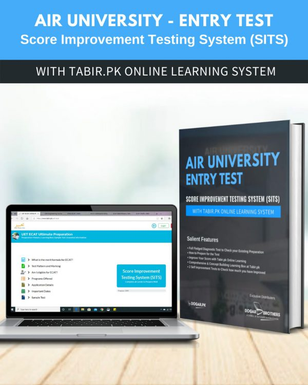Air University-Entry Test Score Improvement Testing System (SITS) With Tabir.PK Online learning