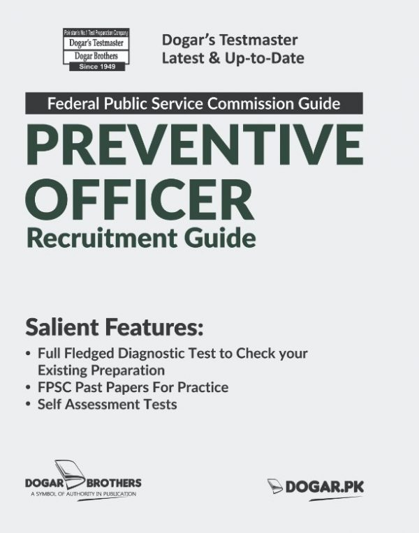FPSC Preventive Officer Recruitment Guide by Dogar Brothers